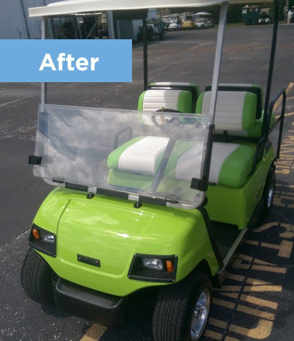 Restoring Old Golf Cart Returns it to Like-New Condition