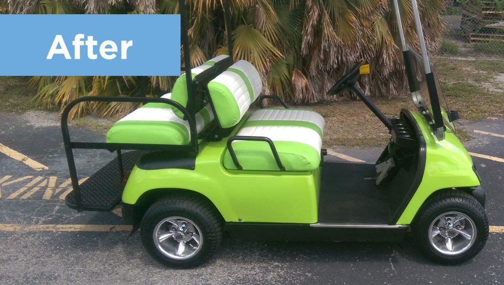 Restoring Old Golf Cart Returns it to Like-New Condition ... on good golf cart batteries, reconditioned golf cart batteries, installed golf cart batteries,