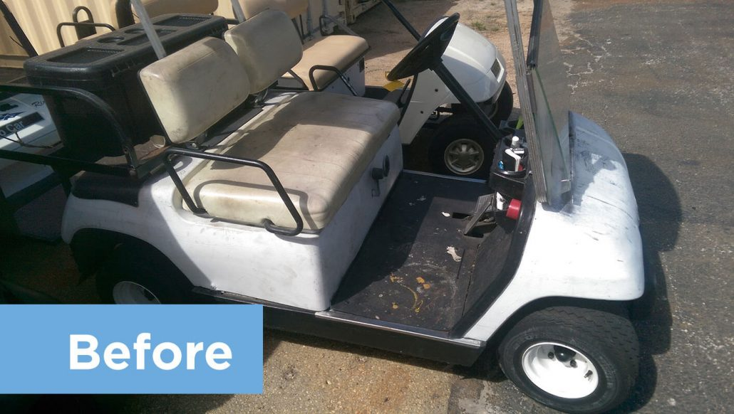 Restoring Old Golf Cart Returns It To Like New Condition Mid